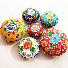 Chinese Cloisonne Decoration Jewelry Box Handmade fetal copper filigree Enamel Home Decor Crafts Gift Keepsake Makeup