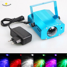CANSHOU Mini Aluminium Alloy Remote RGB LED Water Wave Ripple Disco Stage Light Party Pattern Lighting Show Laser Projector Lamp