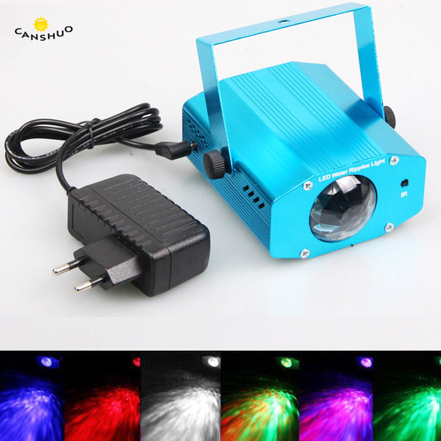Best Offers CANSHOU Mini Aluminium Alloy Remote RGB LED Water Wave Ripple Disco Stage Light Party Pattern Lighting Show Laser Projector Lamp