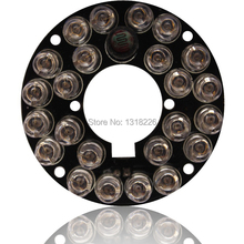 5 PÇS/LOTE 850nm 24 LEDS 5mm Infravermelho IR Led Board Para CCTV Camera 90 Graus Bulb