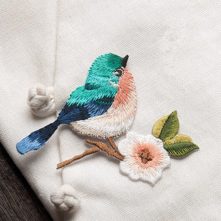 Vendimia Bordado Aves Parches para el remiendo del applique ropa ...