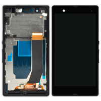 5pcs Black White Purple Display For Sony Xperia Z L36H LCD With Frame Digitizer Assembly Smartphone