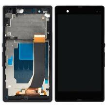 5 шт. черный, белый цвет фиолетовый Дисплей для Sony Xperia Z L36H ЖК-дисплей с Рамки планшета Ассамблеи смартфон ремонт Сенсорный экран C6603