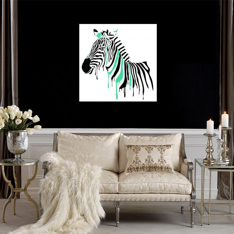 Cebra lienzo impreso pintura calidad Wall imágenes para sala de ...