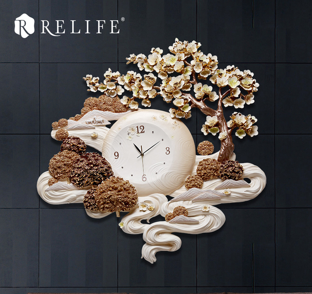 New Arrival Large Wall Clock Tree Landscape Design Home Decor for Living Room Wall