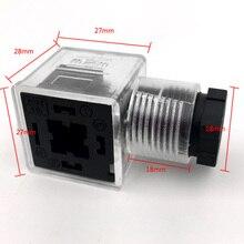 Гидравлический Соленоидный клапан вилка с лампой plugсоленоидная распределительная коробка соленоидная катушка разъем