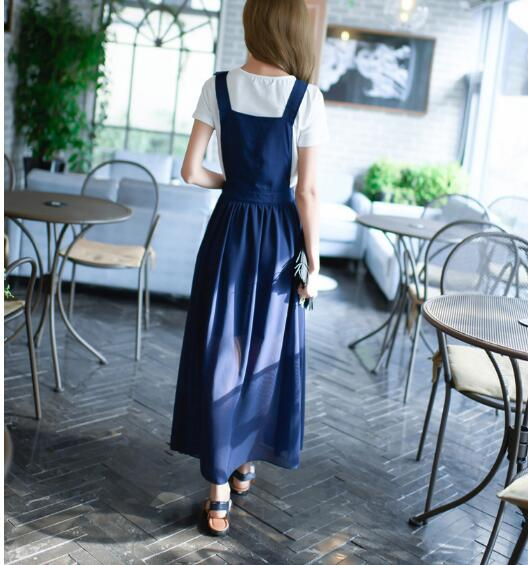 Free Hot Sale O-neck Ankle-length Shipingeurope And The 2019 Summer Girl Sweet New Fashion Strap Dress Women's Chiffon Suit 2