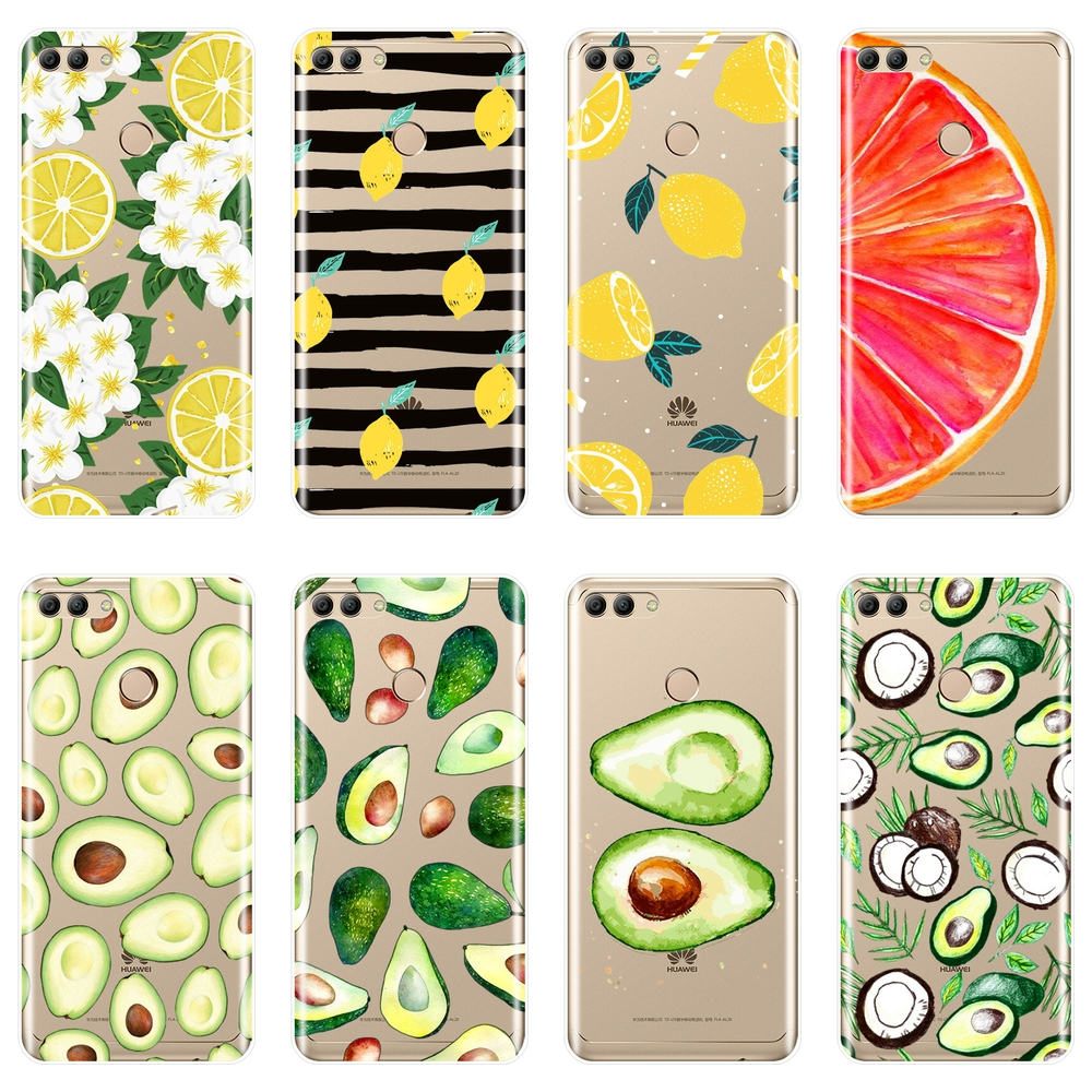 Avocado Lemon Phone <font><b>Case</b></font> <font><b>Silicone</b></font> For <font><b>Huawei</b></font> Y3 Y5 <font><b>Y6</b></font> Y7 2017 II Pro Soft Back Cover For <font><b>Huawei</b></font> Y5 <font><b>Y6</b></font> Y7 Prime <font><b>2018</b></font> Y9 2019 <font><b>Case</b></font> image