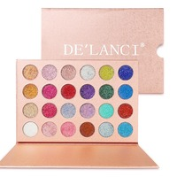 DE LANCI 24 Colors Cosmetic Makeup Pressed Glitter Eyeshadow Pallete Brand New Diamond Glitter Foiled Eye