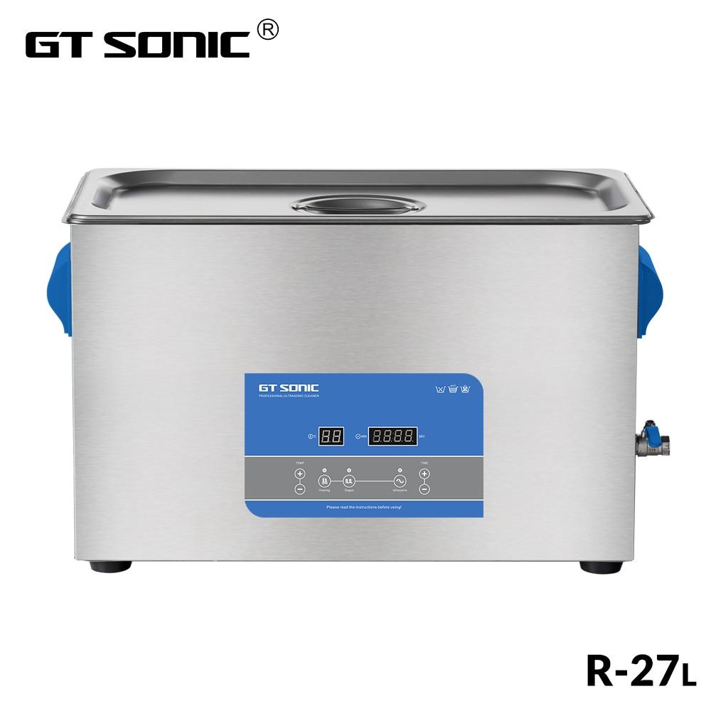 GTSONIC R27 Ultrasonic Cleaner 27L 500W with Digital Display Heating Degas Basket Ultrasonic Bath-in Ultrasonic Cleaners from Home Appliances    1