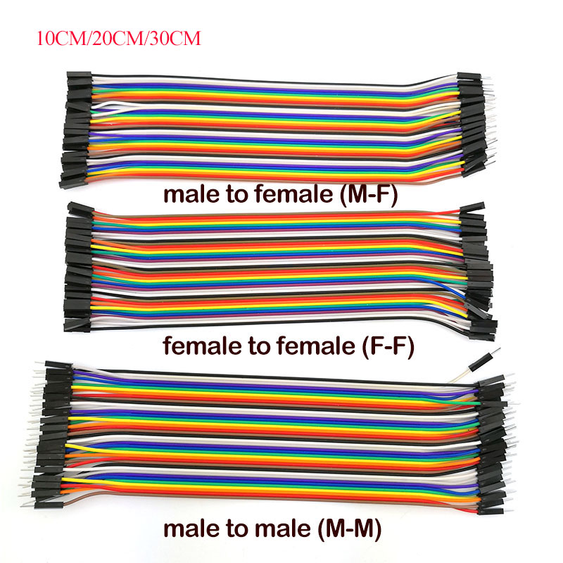 10CM/20CM/30CM Jumper Wire Male To Male, Female To Female Pin, Male To Female 40PIN Jumper Breadboard Cable For Arduino DIY KIT