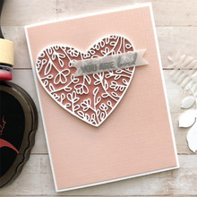 YaMinSanNiO Floral Heart Frame Metal Cutting Dies Scrapbooking for 2019 New Craft Dies Cuts Card Making Set Embossing Stencils цена
