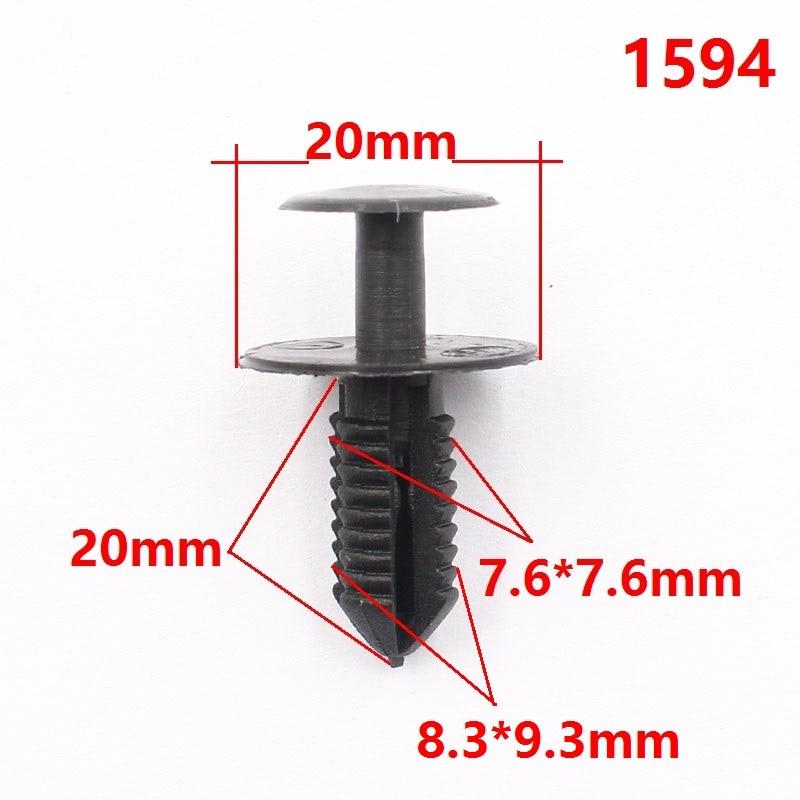 For BMW 10 Clips  5mm Fender Liner Fastener Plastic Rivet Push Clips Retainer