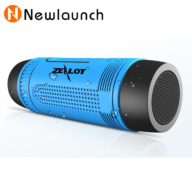 Zealot S1 Bluetooth Subwoofer Power Bank Rechargeable with LED light for Outdoor Sport portable speakers and