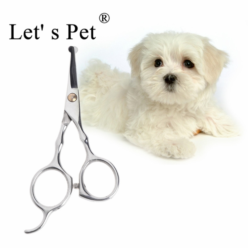 Let' S Pet 13x6cm Pet Dog Safety Rounded Tips Scissor Kits Grooming Thinning Animal Cutting Scissors Tool Dogs Pet