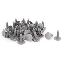 50 Pcs Gray Plastic Rivet Clips 8mm x 25mm 31mm