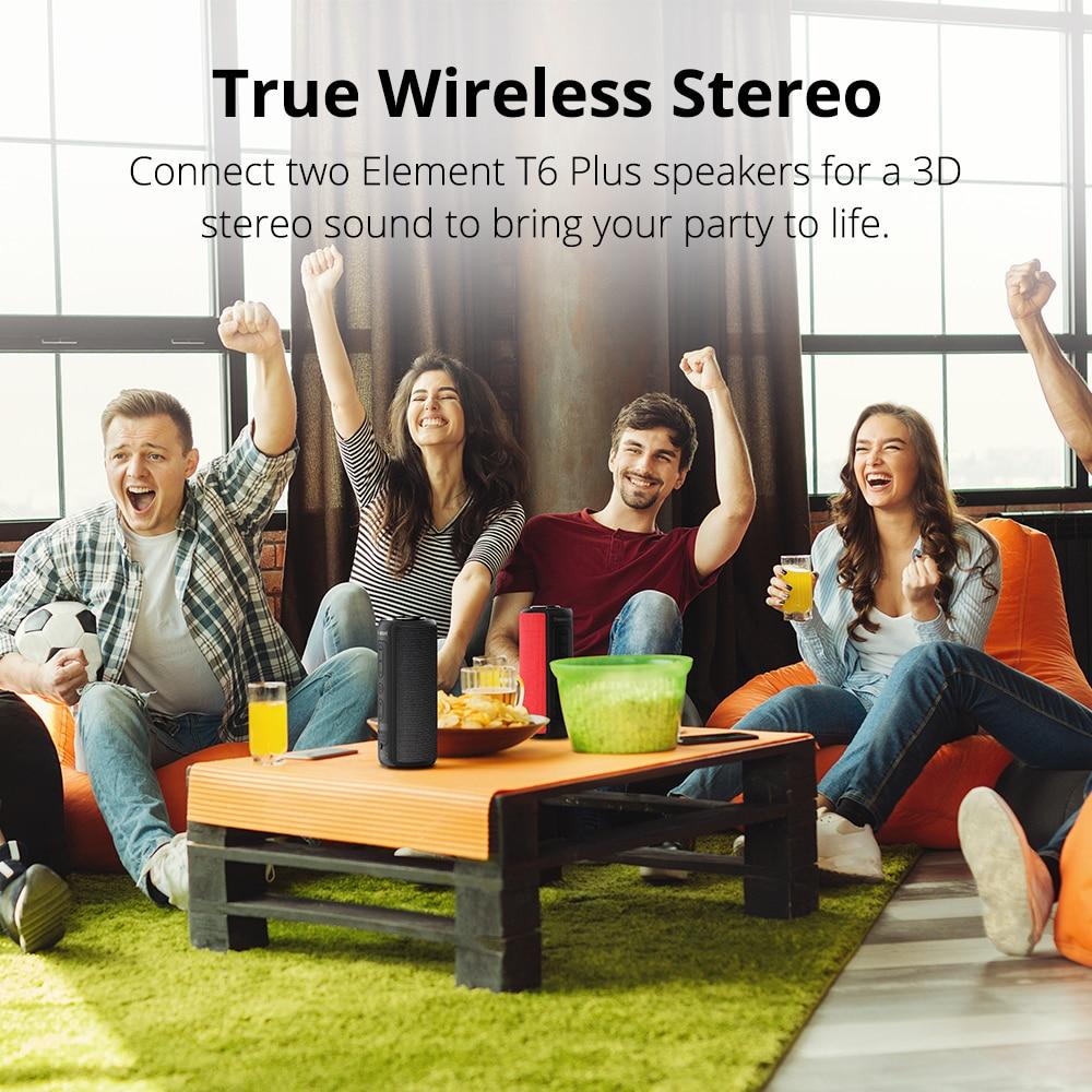 Tronsmart T6 Plus Bluetooth динамик до 40 Вт беспроводной Саундбар Bluetooth 5,0 IPX6 Водонепроницаемый динамик TWS для Iphone, Xiaomi