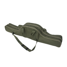 1pcs Army Green 1.1 Meter Fishing Tackle Foldable Canvas Bag Long Soft Storage One-Shoulder Kit Free Shipping