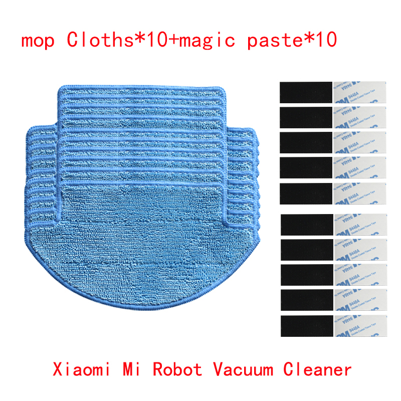 20 Pcs Set Xiaomi Mi Robot Vacuum Cleaner Parts Kit Mop Cloths 10 Magic Paste 10