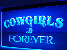 LB755-Cowgirls Are Forever Bar Pub Beer NIEUW Light Sign home decor ambachten(China)