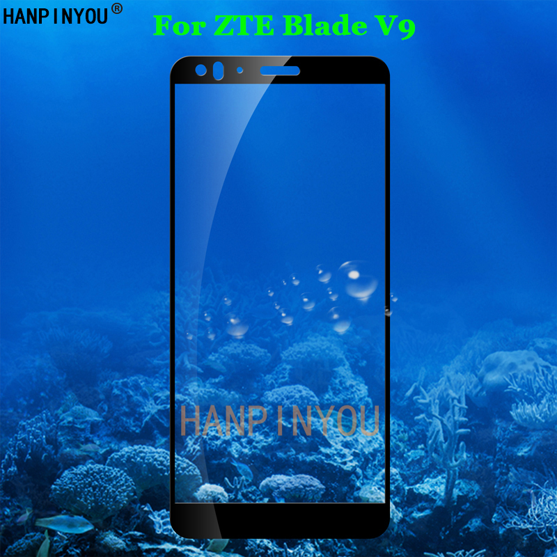 For ZTE Blade V9 5.7 Full Coverage Tempered Glass 9H 2.5D Premium Screen Protector Film For ZTE Blade V9 5.7 Full Coverage Tempered Glass 9H 2.5D Premium Screen Protector Film