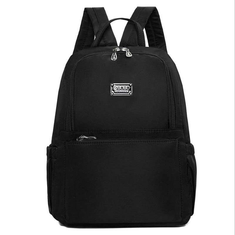 цены  2017 Women Backpacks Waterproof Nylon Student School Bags Girl Backpacks Female Casual Travel Bag Ladies mochila feminina  Femal