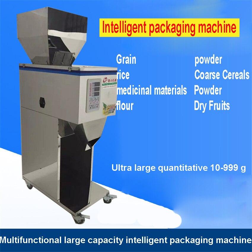 1 PC 10-999g à grande échelle de machines quantitatives, machine de remplissage automatique de poudre, médecine, machine de remplissage de nourriture