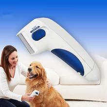 Кошка Собака электрический Терминатор щетка анти удаление Kill Lice очиститель электрическая голова домашних животных блох электронный вшей расческа для собаки
