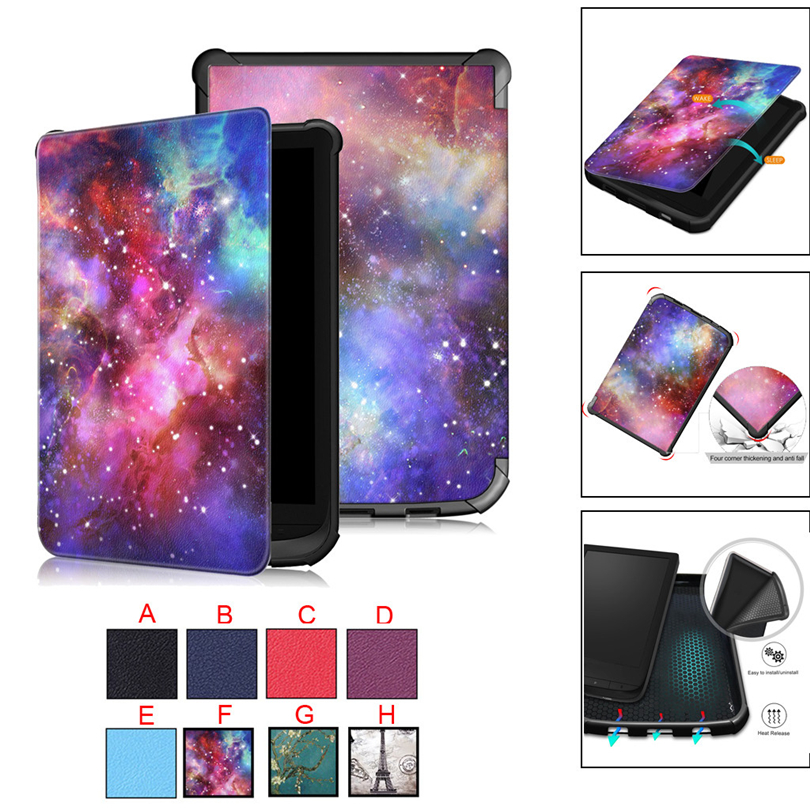 ZGPAX Smart Leather Stand Cover Case For Pocketbook 632/627/616 Touch For Lux 4/Basic Lux 2 6inch Tablet Auto Wake Sleep A30ZGPAX Smart Leather Stand Cover Case For Pocketbook 632/627/616 Touch For Lux 4/Basic Lux 2 6inch Tablet Auto Wake Sleep A30
