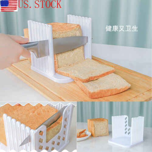 Bread Slicer Cutter Mold Maker Slicing Cutting Guide Loaf Toast Kitchen Tool