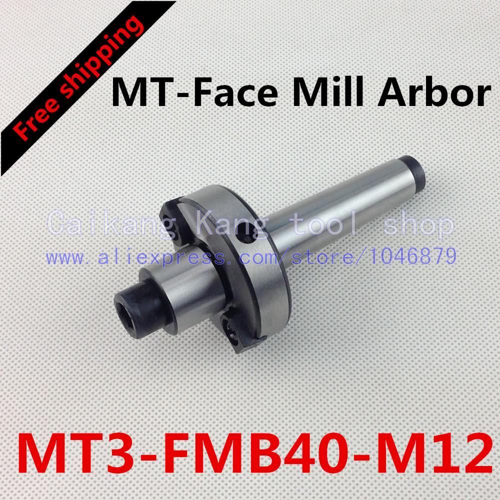 Free shipping New CNC tool holders MT3-FMB40-M12 Morse Face Mill Arbor Shell end mill arbor