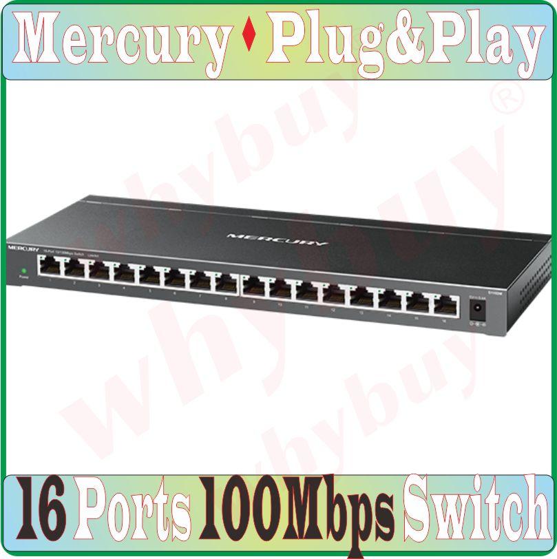 Steel 16 RJ45 Ports 10 100Mbps Fast Ethernet Network Switch Auto MDI MDI X Half Full