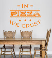 Pizza Quote Pizzeria Wall Stickers Vinyl Italian Restaurant Kitchen Accessories Remocable Room Decals Mural Z098