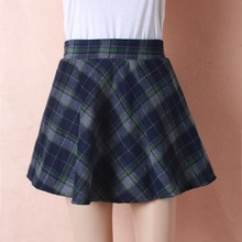 Womens New Tartan Check Printed Ladies Stretch Fit Flared Skater Skirt Plus Size