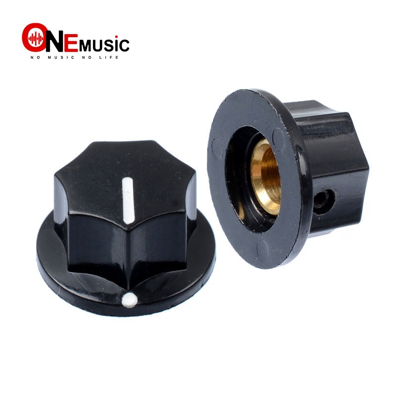 black pedal pointer knobs 1 4 inch shaft guitar effects pedal knobs hard plastic material new