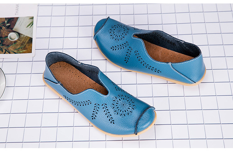 AH 1866-1-2019 Summer Women Loafers Genuine Leather Woman Shoes-4