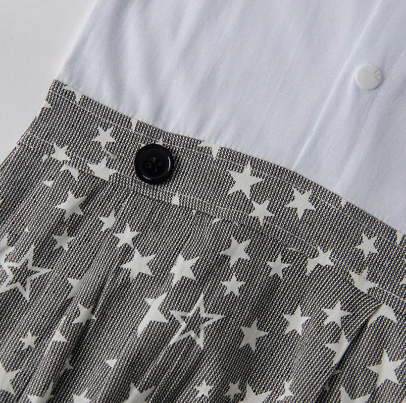 2018 summer Infant Baby Boy onesie Gentleman Bowtie Romper Short Sleeve Star Print Overall Clothes first birthday party