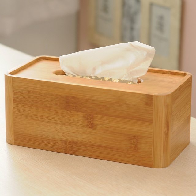 Home Paper Box Creative Bamboo Tissue Modern Simple Holder Living Room