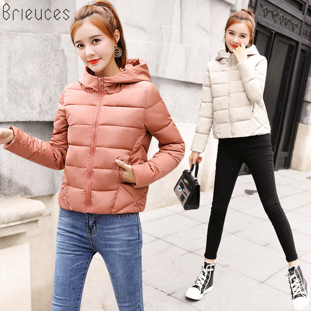 Brieuces 2018 winter jacket women hooded plus size 3XL warm thick   parka   cotton padded female winter jacket womens fashion coat