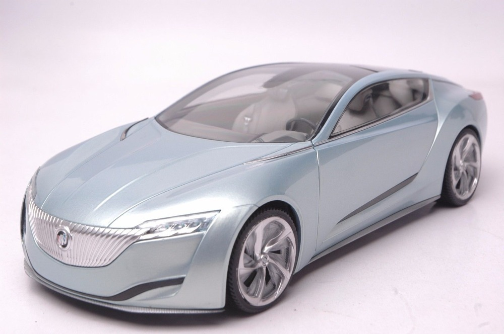 1:18 Diecast Model for Buick Riviera 2 2013 Concept Vehicle Blue Alloy Toy Car Collection Gifts  black diecast model car for 1 18 bmw 760li f02 luxury 7 series vehicle miniature toys alloy gifts collection minicar