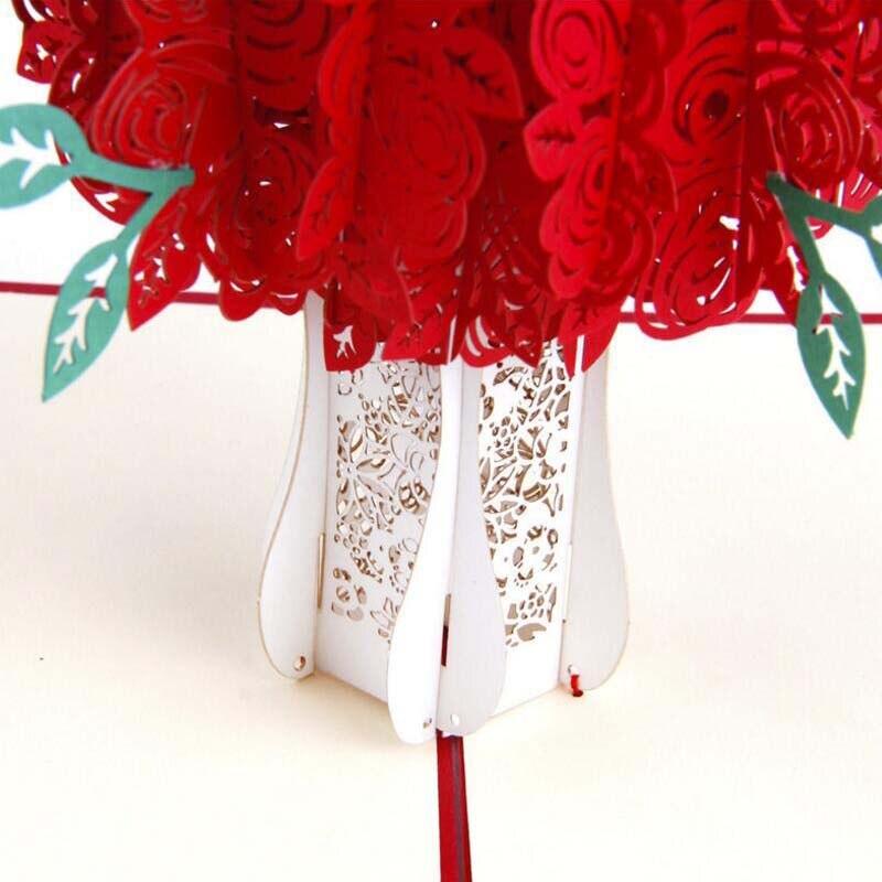 Pop Up Karte Muttertag.Us 2 84 25 Off Grußkarte Für Muttertag Geschenk 3d Rose Pop Up Karte Postkarte Für Vatertag Valentinstag Geschenk In Grußkarte Für Muttertag