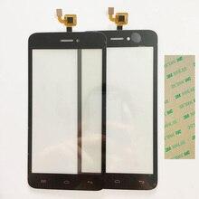 Nueva Pantalla Táctil Probado Para Explay Río Juego Sensor de Pantalla Táctil Frontal Digitalizador GlassTouch Panel ReplacementBlack Color + 3 M de Cinta