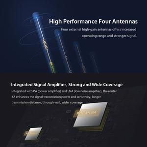 Image 3 - Xiaomi Mi 4A Router Gigabit edition 2.4GHz + 5GHz WiFi 16MB ROM + 128MB di DDR3 di Alta guadagno 4 Antenna APP di Controllo IPv6 Xiaomi Router