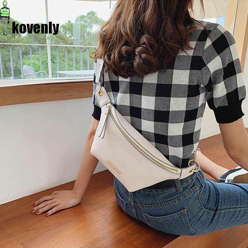Bolso de cintura informal para mujer, bolso de hombro de cuero, bolsos de moda para el pecho, riñonera para niña, mochila de bandolera, bolsa de cintura A61