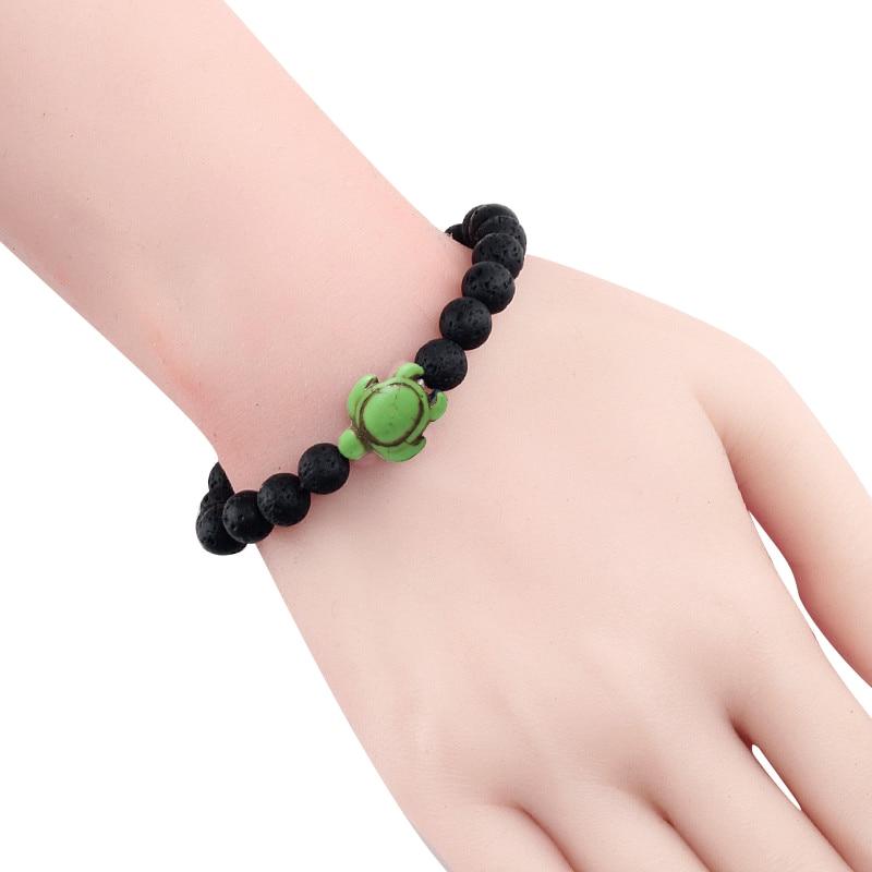 Turtle and Lava Bead Bracelet 2