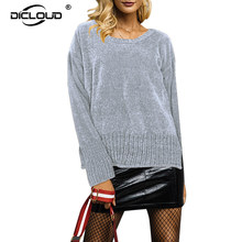 2018 Winter Thicken Warm Chenille Sweaters Women Autumn O Neck Knitted Pullovers Jumpers Cozy Long Sleeve Women Tops Knitwear(China)