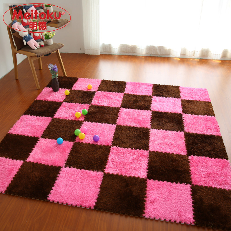 Meitoku Soft EVA Foam puzzle baby play Villus Mat;interlock floor ...