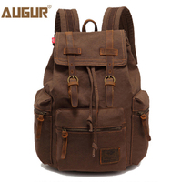 2017 AUGUR New Fashion Men S Vintage Canvas Backpack For Teenage Girls School Bag Women S