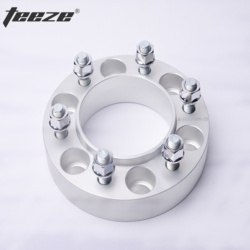 TEEZE-(1PC) Car styling wheel rim spacers 6x5.5'' Wheel spacers for Fortuner 6x139.7 CB 106mm Separador de rueda цена