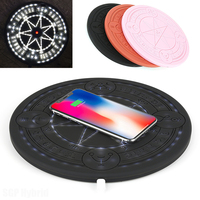 100% Pentagram Magic Array Wireless Charger Pad 10w Qi Fast Ultra Slim Music Charging Pad for Iphone X XS Max XR Phone Charger